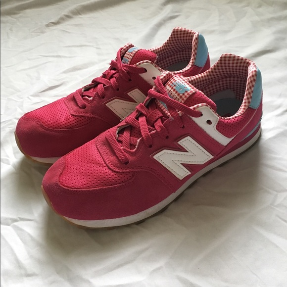 new style 9cce8 8f3eb New Balance 574 Pink/Light Blue Picnic Collection